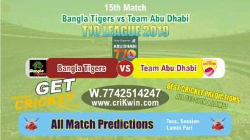 T10 League 2019 Today Match Prediction TAB vs BAT 15th Who Will Win
