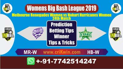 WBBL 2019 Today Match Prediction MR-W vs HB-W 24th Match Who Win