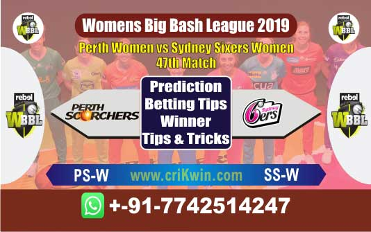 WBBL 2019 Today Match Prediction SSW vs PSW 47th Match Who Will Win
