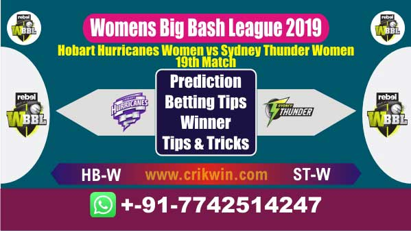 WBBL 2019 Today Match Prediction ST-W vs HB-W 19th Match Who Win