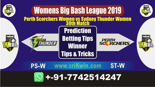 WBBL 2019 Today Match Prediction STW vs PSW 30th Match Will Win