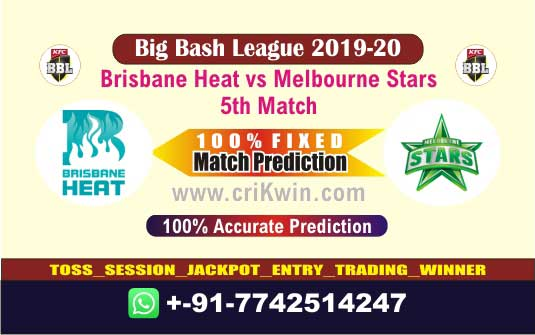 BBL T20 2019-20 Today Match Prediction STA vs HEA 5th 100% Sure Win