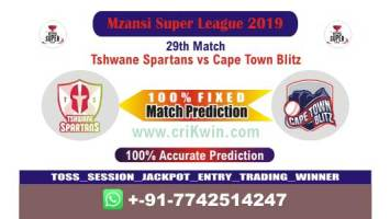 MSL 2019 Cricket match prediction 100% sure CTB vs TST 29th Will Win