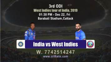 Perfect Sure Shot Match Prediction Ind vs WI 3rd ODI 100% Sure Win
