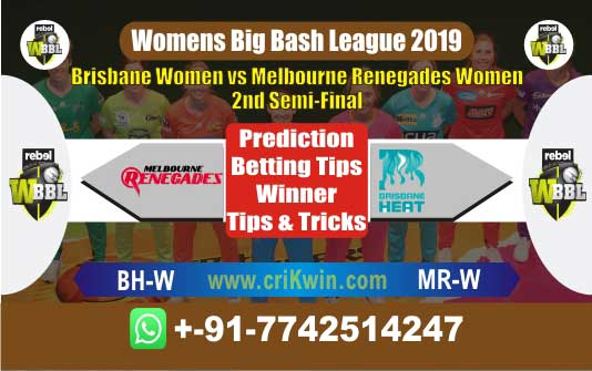 WBBL 2019 Today Match Prediction MRW vs BHW Semi Final Who Win