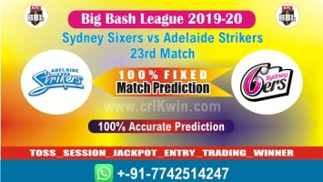 BBL 2020 Today Match Prediction ADS vs SYS 23rd T20 100% Sure Win