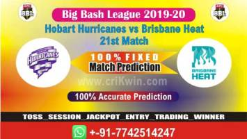 BBL 2020 Today Match Prediction BRH vs HOB 21st 100% Sure Win