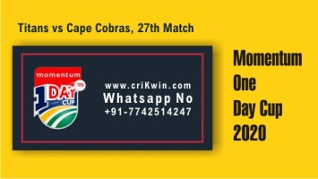 100% Sure Today Match Prediction COB vs TIT 27th Momentum ODI Tips