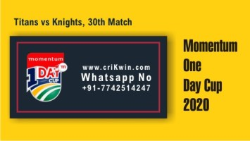 100% Sure Today Match Prediction KTS vs TIT 30th Momentum ODI Tips