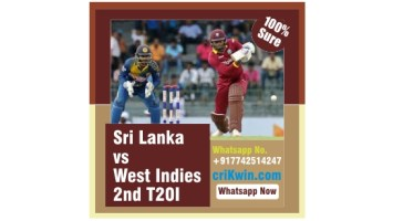 100% Sure Today Match Prediction WI vs SL 2nd T20 Win Tips