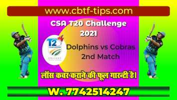 100% Sure Today Match Prediction COB vs DOL CSA T20 Win Tips