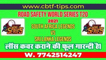 100% Sure Today Match Prediction SL-L vs SA-L Road Safety T20 Win Tips
