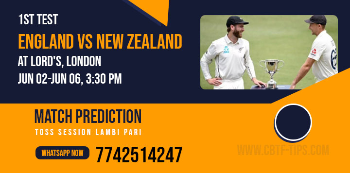 NZ vs Eng 1st Test Match 100% Sure Today Match Prediction Win Tips