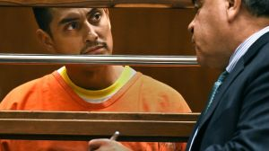 David Martinez appears in a courtroom at the Foltz Criminal Justice Center on Oct. 30, 2014. (Credit: KTLA)