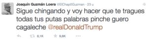 Tweet 'El Chapo' Donald Trump