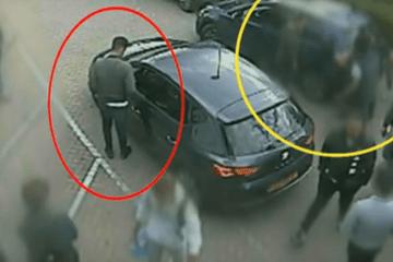 VIDEO: Politie deelt beelden diefstal in beslag genomen drugs uit politieauto in Hilversum