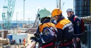 На стройплощадке Крымского моста прошли учения МЧС  (+ФОТО и ВИДЕО)