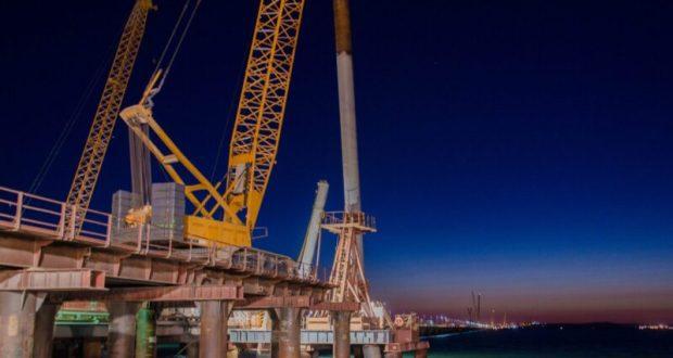 Крымский мост: стройка «ушла» в море