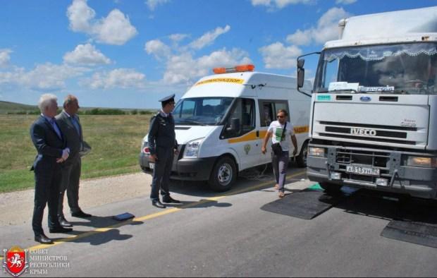 """В Крыму испытывают """"весы"""" для грузовиков"""