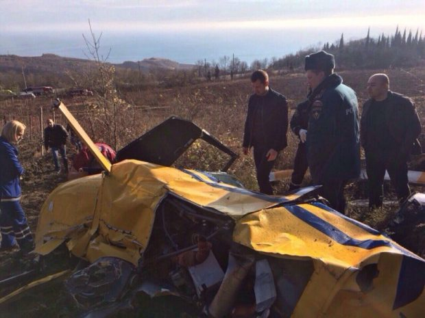 В Крыму под Алуштой рухнул вертолёт: погибли два человека