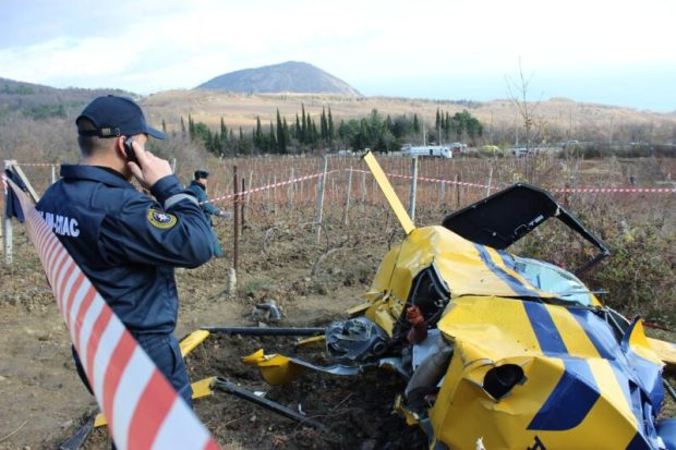При крушении вертолёта под Алуштой погиб продюсер Александр Куликов