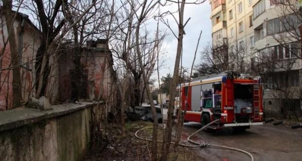 Пожар в Симферополе - едва не погибли четыре человека