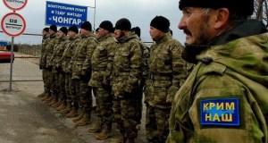 На границе Украины с Крымом снова «буза»: «аскеры» Ислямова «воюют» с таксистами