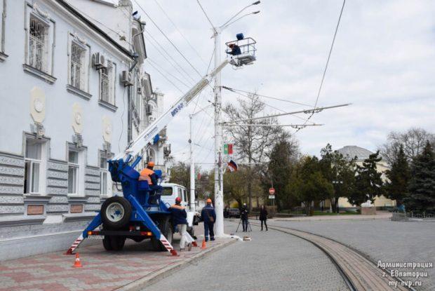 Ямочный ремонт в Евпатории - дорожники приводят в порядок улицу Ленина