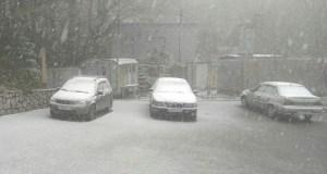 В Крыму снегопад. Будьте осторожны на дорогах