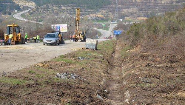 Ремонт дороги в районе Поворотного