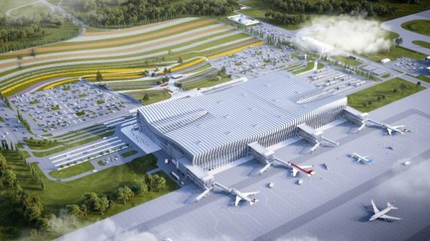 Какой будет привокзальная площадь нового терминала аэропорта Симферополя?