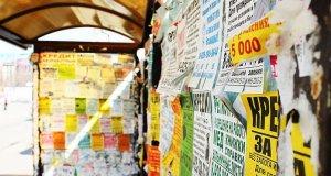 В Евпатории воюют с расклейщиками рекламных объявлений