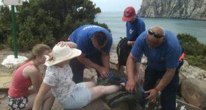 Спасатели помогли курортнице, оступившейся на «тропе Голицына»