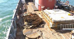 В акватории у мыса Панагия экспедиция Минобороны России поднимает вооружение катера времён ВОВ