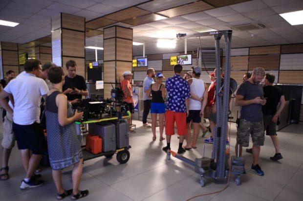 Аэропорт Симферополя превратился в съёмочную площадку