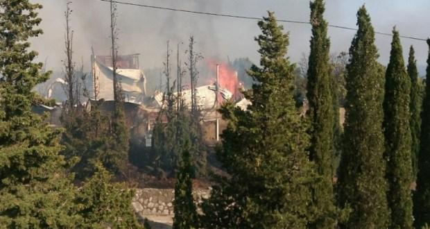 Пожар в кемпинге в Форосе. Последствия