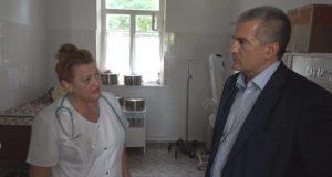 Как и обещал, Аксёнов поехал по больницам. Первая – «Феодосийский медицинский центр»
