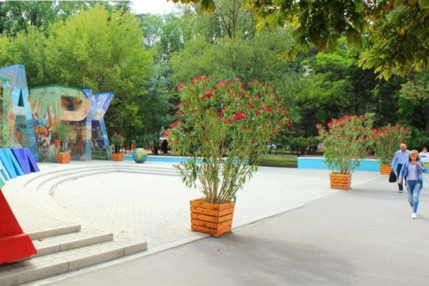 """В Детском парке Симферополя """"выросли"""" олеандры, петуньи и пальмы. За несколько дней!"""