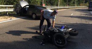 ДТП на трассе «Симферополь – Алушта». Серьезно пострадал мотоциклист