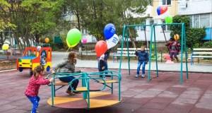 В Евпатории презентовали первый двор с комплексным благоустройством