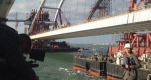 Как поднимали арку Керченского моста