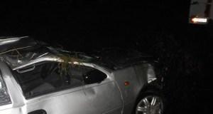 Ночное ДТП в районе пгт. Почтовое Бахчисарайского района. Авто упало с моста