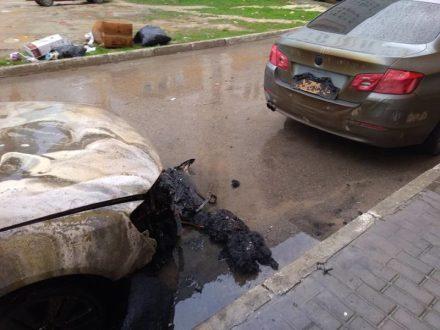 Очередной ночной поджог автомобиля в Севастополе. И снова улица Колобова