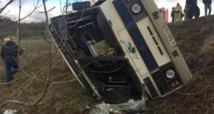 Стала известна причина опрокидывания рейсового автобуса с пассажирами в Крыму