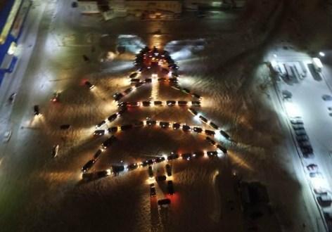 В Симферополе автомобилисты проведут новогодний флешмоб