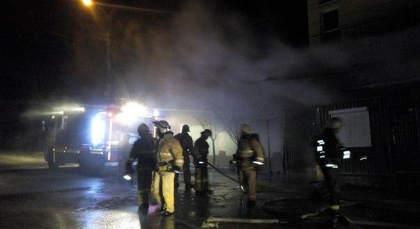 Пожар в симферопольском универсаме «Яблоко»
