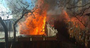 Крупный пожар в Ялте полностью уничтожил кафе «У кабана»