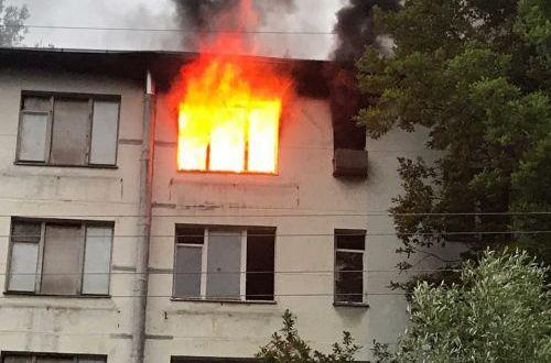 На пожаре в Красноперекопске спасен человек