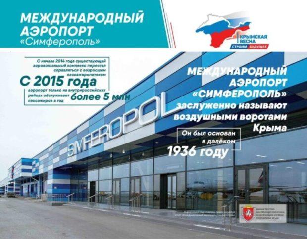"""В аэропорту Симферополя работает фотовыставка """"Крымская весна. Строим будущее"""""""