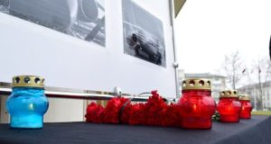 В Симферополе установили стенд в память о погибших в крушении самолёта под Москвой